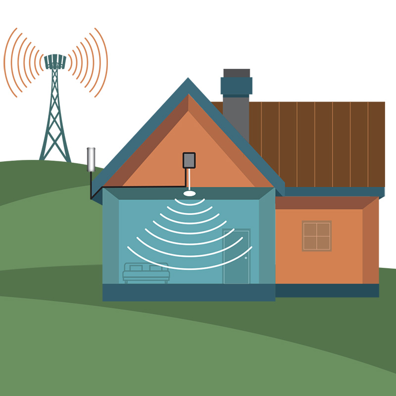How do I install a cell signal booster in my home?