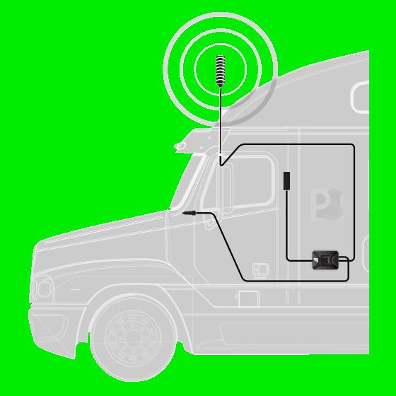 weBoost Drive 4G-X 470510 commercial truck setup diagram