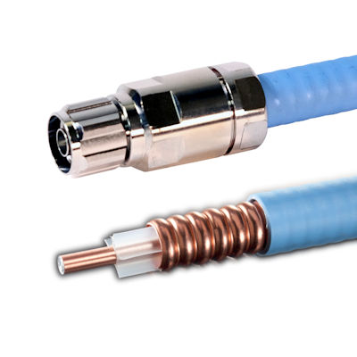 Top Signal 1/2-inch plenum air coax N-male connector and cutaway TS350100