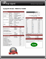 Download the Top Signal 240 coax cable spec sheet (PDF)