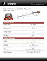 Download the Top Signal TS231072 spec sheet (PDF)