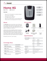 Download the weBoost Home 4G 470101 spec sheet (PDF)