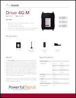 Download the weBoost Drive 4G-M 470121 spec sheet (PDF)