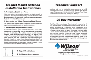 Download the Wilson 301126 installation guide (PDF)
