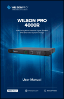 Download the WilsonPro 4000R user manual (PDF)