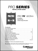Download the WilsonPro 70 465134 install guide (PDF)
