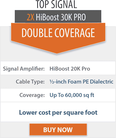 Top Signal 2X HighBoost 30K Pro double coverage comparison chart 2x