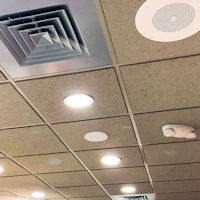 Top Signal 4G Ultra-Thin Ceiling-Mount Dome Antenna N-Female TS250376 installed in a drop ceiling 3