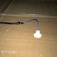 Top Signal 4G Ultra-Thin Ceiling-Mount Dome Antenna N-Female TS250376 installed in a drop ceiling 4