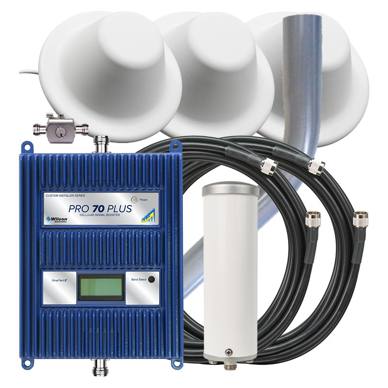 WilsonPro 70 Plus refurbished cell signal booster system with three dome antennas