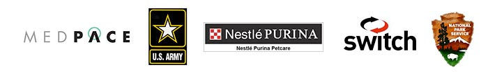 MedPace, U.S. Army, Nestlé Purina Petcare, Switch, National Park Service